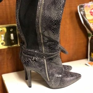 Ashley Stewart heeled boots